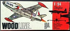 Vintage (1967) STROMBECKER WOODLINE Kit G-43, LOCKHEED F-94 STARFIRE, 1/60, MIB