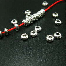 Wholesale 100x 5mm Stainless Steel Silver Round Spacer Beads Jewelry Making