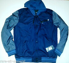 HURLEY ALL CITY FULL-ZIP BLUE/GRAY HOODY/HOODIE JACKET MENS XL