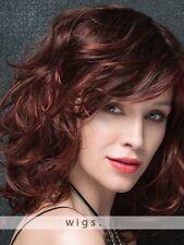Wie Echthaar!Urbaner Stil Damen Mittel Gelockt Rot Volle Perücken wig