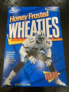 Dallas Cowboys Deion Sanders 1996 Honey Frosted Wheaties Cereal Box Rare Prime
