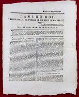 Prince de Monaco 1791 Rennes Bretagne L'ami du Roi Louis 16 Bourbon JJ Rousseau