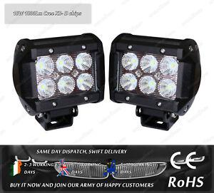 "Cree LED 18W 4"" Flood Beam Offroad LED Work Light Lamp 12v 24v Truck Jeep 4WD"