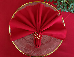 CHRISTMAS RED POLYESTER NAPKINS AND RUNNERS EVENTS BIRTHDAY PARTIES WEDDING XMAS