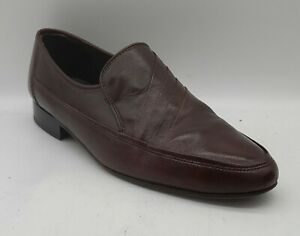Mens K-SHOES Since 1842 Size 9 UK Brown All Leather Penny Loafers Slip On E U C