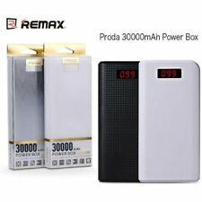 Nuevo Blanco PRODA 30000mAh Cargador De Batería Externa, Banco de Alimentación con pantalla LCD.