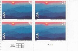 US Airmail Stamps 75 Cents. Great Smoky Mountains. Scott# C140.