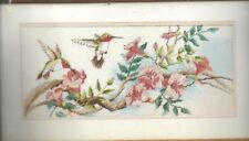 HUMINGBIRDS IN SPRINGTIME, From the Heart Vintage 1988, NEEDLEPOINT Kit, Sealed