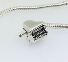 piano silver charms bead Fit European charm Bracelet/Necklace chain J-401