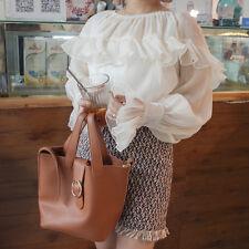 Lady Vintage Falbala Blouse Ruffle Frilly Flare Sleeve Shirt New Victoria Style
