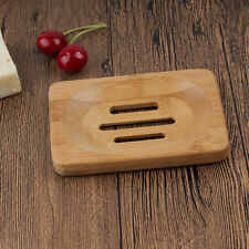 Fashion Natural Bamboo Wood Soap Dish Storage Holder Bath Shower Plate Bathroom