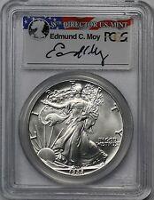 1988 American Silver Eagle $1 MS 69 PCGS Edmund C. Moy Signature