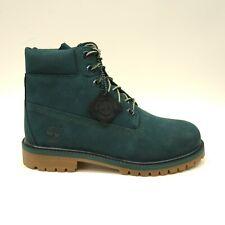 "Timberland Womens US 5 EU 37.5 Premium 6"" Waterproof Teal Nubuck Boots New"