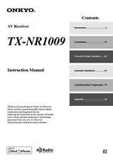 Onkyo Integra TX-NR1009 Receiver Owners Instruction Manual