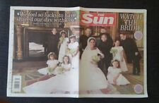Sun Newspaper May 22 2018 Harry and Meghan Royal Wedding Pictures.