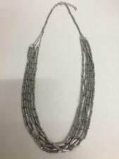 Fashion Jewelry Name Brand Multi strand Silver Necklace  NEW