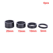 4PCS Full Carbon Fiber Bicycle Spacer Cycling Washer Bike Bicycle Stem Spacer_ws