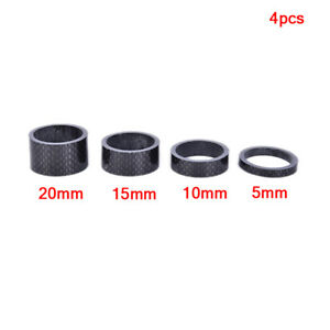 4* Full Carbon Fiber Bicycle Spacer Cycling Washer Bike Bicycle Stem Spacers HL