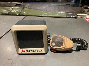 Vintage Motorola Mocom 70 Microphone and Speaker