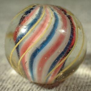 """BB Marbles: Solid Core Swirl. 5/8"""". Mint (B530)"""