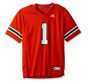 Outerstuff adidas NCAA Boys Fashion Football Jersey; Miami; Orange; XL; AC2123
