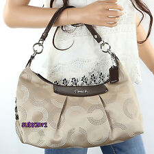 NEW Coach Signature Ashley Dotted OP Art Convertible Hobo Crossbody Bag F20031