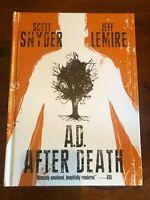JEFF LEMIRE SCOTT SNYDER A.D. AFTER DEATH HARDCOVER 2x SIGNED 1st PRINT NEW