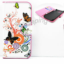 Wallet Flip Phone Protective PU Leather Skin Hard Cover Case For HTC ONE M8
