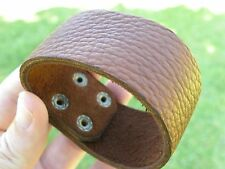 Men Bracelet wristband Genuine Buffalo Leather nice for bills fans 1.5 inch wide