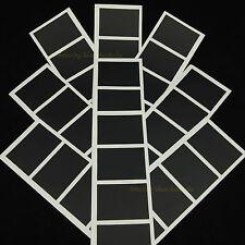 36 x Chalkboard Labels (Rectangle - 5cm x 3.5cm) | Wedding Black Vinyl Stickers