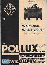 LUDWIGSHAFEN a. Rhein, Werbung 1936, Woltmann-Wasser-Zähler, Pollux GmbH