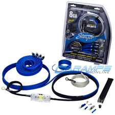 NEW STINGER 800 WATTS 8 AWG GAUGE CAR AMP INSTALL WIRING KIT WITH RCA CABLES