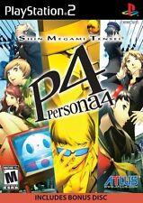 Shin Megami Tensei: Persona 4 [PlayStation 2 PS2, NTSC, JRPG, Bonus Music CD]