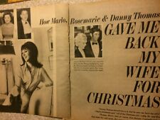 Marlo Thomas, Three Page Vintage Clipping