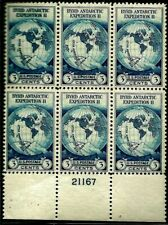 """United States Scott # 733 """" Byrds Antarctic Expedition"""" Plate Block (6) NH"""