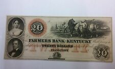 $20 The Farmers Bank of Kentucky Frankfort Unissued