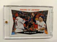 "Yordan Alvarez & Jose Altuve | Grade ""A"" Astros Topps Archives 2020 #60CC-AA"