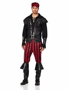 Ruthless Rogue Caribbean Pirate Captain Fancy Dress Up Halloween Adult Costume