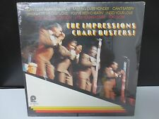 """THE IMPRESSIONS CHART BUSTERS 12"""" SEALED VINYL LP RECORD"""