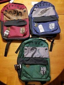 Harry Potter Backpack Bookbag School Gryffindor Ravenclaw Slytherin Bioworld