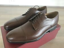 600$ Bally Brown Nevil Leather Laces Up Size US 10 Made in Switzerland