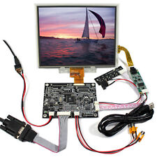 """VGA 2AV Reversing LCD Controlle Board+8"""" HJ080IA-01E1024x768 IPS Touch LCD Panel"""