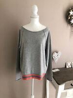 JUVIA Sweater Sweatshirt Pullover Oversized Loungewear grau Gr XL 42 44 NP 109,-
