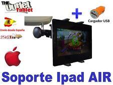 "SOPORTE REPOSACABEZAS PARA Apple Ipad Air 2 (2ª Generación) 9.7"" + CARGADOR USB"