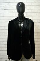 Giacca Donna HUGO BOSS Taglia 44 Blazer Jacket Woman Seta Nera Lucida Elegante
