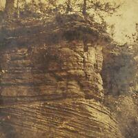 Berlin Wisconsin WI Baldwall Bald Wall Cliff 1880s Nature Shot Stereoview Photo