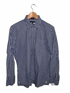 Tommy Hilfiger Shirt Long Sleeve Button Up Blue White Size M