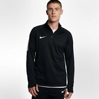 Nike Shield Squad Drill Mens Medium M Soccer Top 1/2 Zip Shirt Black Long Sleeve