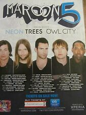 Maroon 5, Full Page Tour Ad