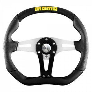 """MOMO TREK BLACK steering wheel *100% GENUINE""""Made Italy""""BRAND NEW ***** last one"""